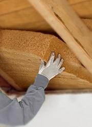Isolation du toit en laine